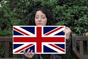 Girl with Union Jack