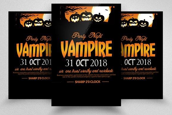 Halloween Flyer Background Template