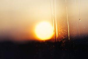 Sky at sunset, close-up