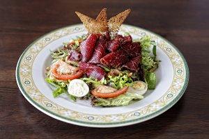 Jerky beef salad
