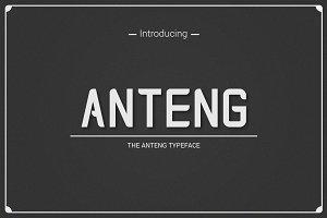 Anteng | Dual Width Font