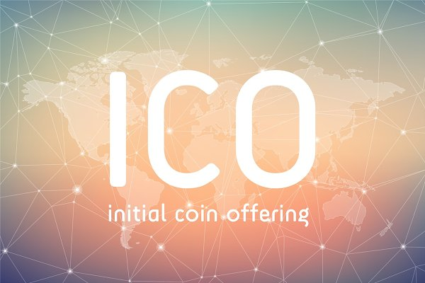 ICO initial coin offering banner.