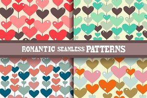 Abstract Hearts Patterns