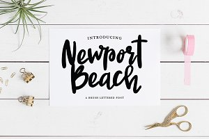 NEWPORT BEACH Brush Script Font
