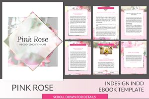 Pink Rose ID Ebook Template