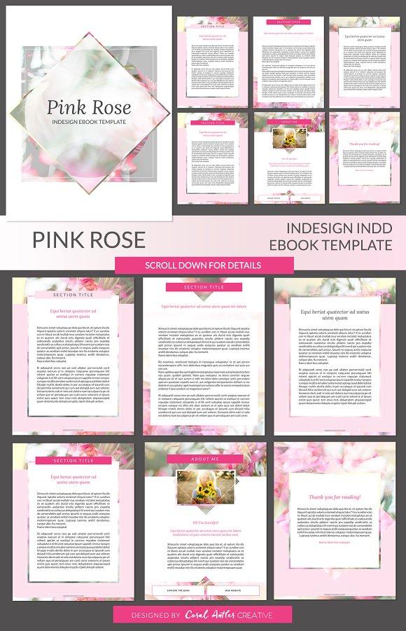 Pink Rose ID Ebook Template ~ Presentation Templates ~ Creative Market
