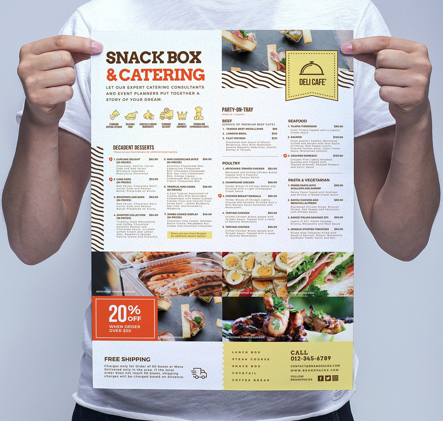 catering service poster template flyer templates