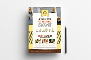 A4 Catering Service Poster Template