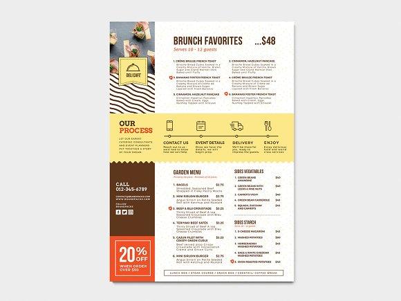 Catering Service Menu Template Flyer Templates Creative Market