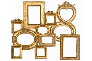 Baroque golden framework