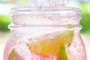 Lime juice lemon soda