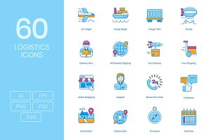 60 Logistics Icons
