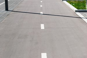 Bicycle path and roadway