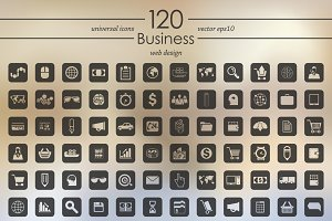 120 business icons