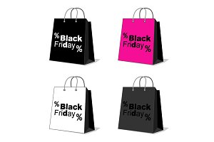 Black Friday shopping bag