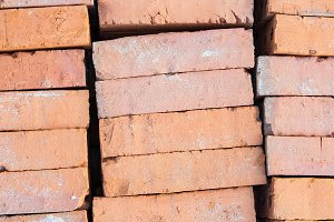 Red brick building blocks.