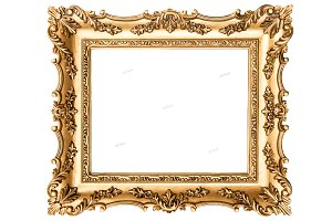 Vintage golden picture frame
