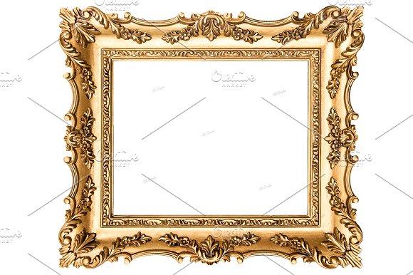 Vintage Golden Picture Frame Objects Creative Market