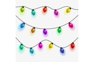 Set of multicolored garlands.