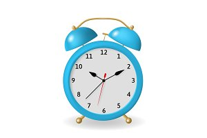 Vector illustration of the alarm clock.