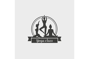 Yoga Class Symbol Template.