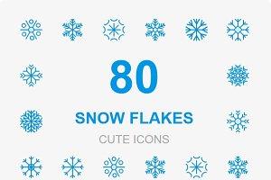 80 Snowflake Cute icons