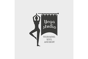 Yoga Studio Badge Template.