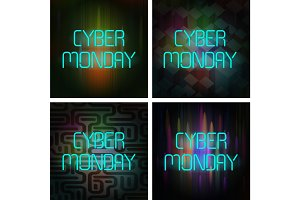 Cyber Monday Poster Set.