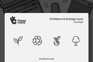 45 Nature & Ecology Vector Line Icon