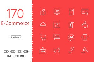 170 Shopping & E-commerce line icon