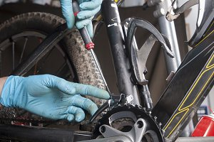 Fixing a mountain bike