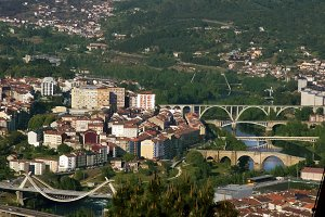 panoramic view of the city of orense, galicia, Spain