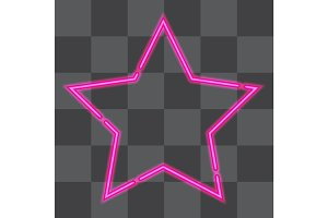 Shining retro neon star.