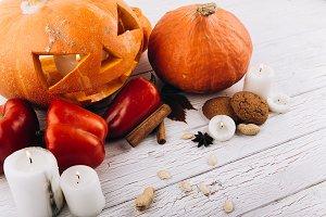 Scarry Halloween pumpkin