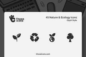 45 Nature & Ecology Glyph Icon