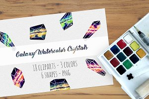 Galaxy Watercolor Crystals