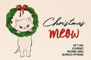 Christmas MEOW ❄ Cute holiday pack