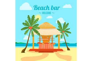 Tropical Beach Bar Summer Holiday