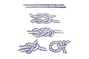 Sea Knot Rope Hand Draw