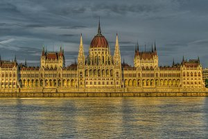 Exterior view to Hungary Parliament House, Hungary Budapest