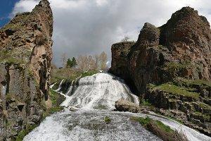 Jermuk waterfall on Arpa river, Armenia