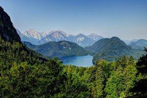 Landscape of Alpsee, Bayern, Germany