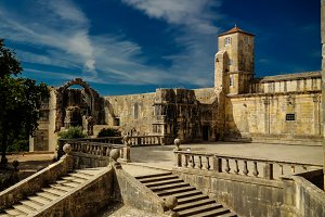 Exterior of Templar church of the Convent of the Order of Christ, Tomar, Portugal