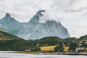 Rocky Mountains Landscape in Norway