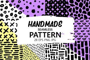 28 Handmade Seamless Patterns