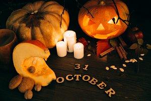 Wooden lettering `31 october`