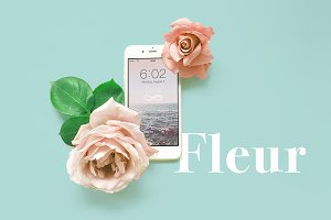 Floral Rose iPhone 7 Mockup 2