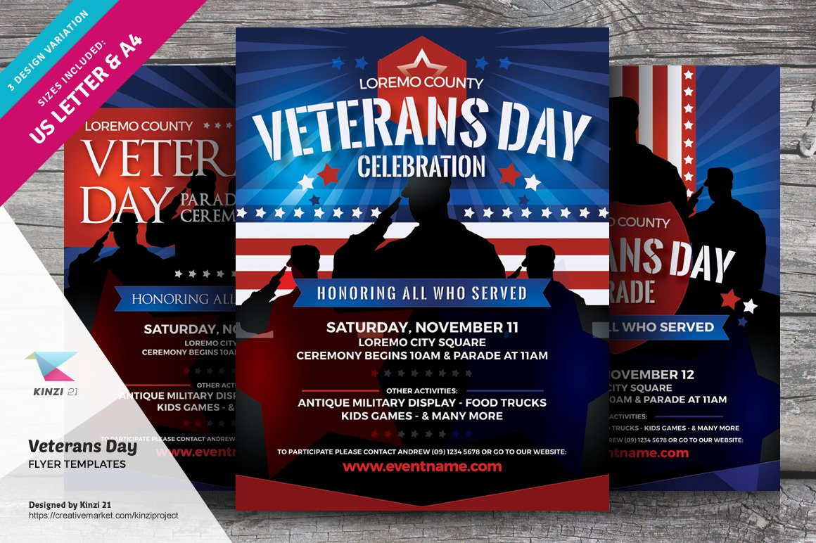 Veterans Day Flyer Templates ~ Flyer Templates ~ Creative Market