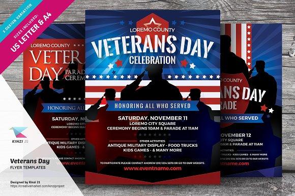veterans day flyer templates flyer templates creative market