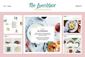 The Lunchbox. Foodie SocialMediaPack